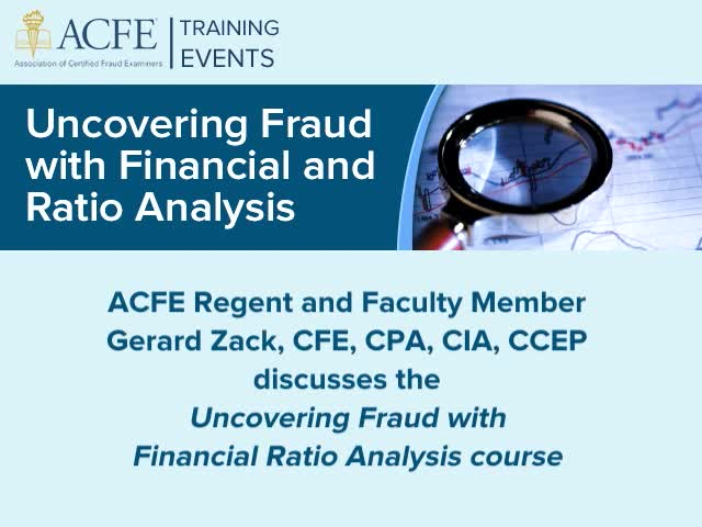 Uncovering Fraud with Financial and Ratio Analysis   ACFE Lebanon